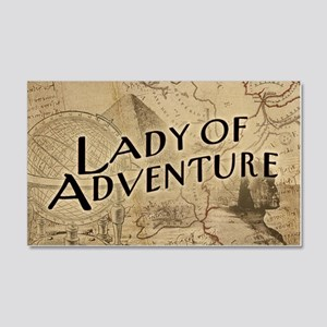 lady-of-adventure_11x18h 20x12 Wall Decal