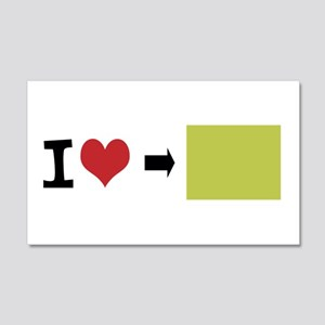 Customize Photo I heart Wall Decal