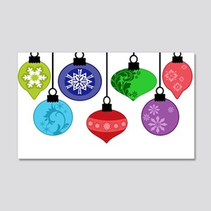 Christmas Ornaments 20x12 Wall Decal
