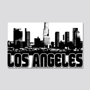 Los Angeles Skyline 20x12 Wall Decal