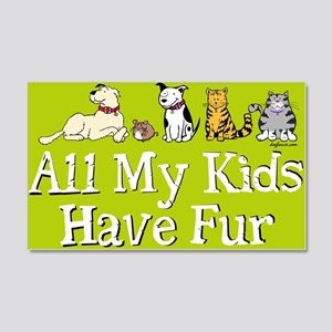 All My Fur Kids 20x12 Wall Peel