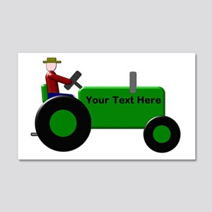 Personalized Green Tractor 20x12 Wall Decal