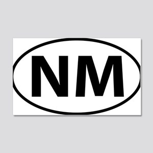 New Mexico NM oval 20x12 Wall Decal