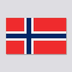 Norway Flag 20x12 Wall Decal