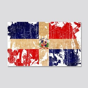 Dominican Republic Flag 22x14 Wall Peel