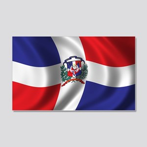 Flag of the Dominican Republic 22x14 Wall Peel