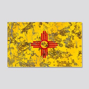 New Mexico Grunge Flag 22x14 Wall Peel