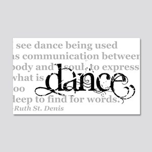 Dance Quote 20x12 Wall Decal