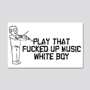 White Boy Music 20x12 Wall Decal
