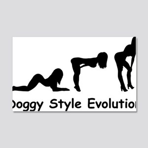 doggy evolution 20x12 Wall Decal