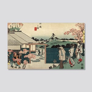 The tea house Hiraiwa at Mukojima - Hiroshige Ando