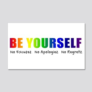 Be Yourself (Rainbow) 20x12 Wall Decal