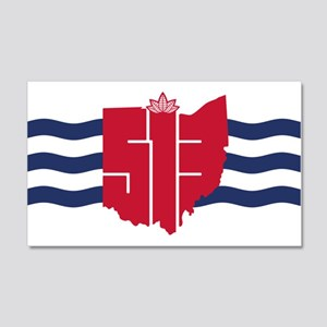 513 Cincinnati Flag Hometown Art Wall Decal