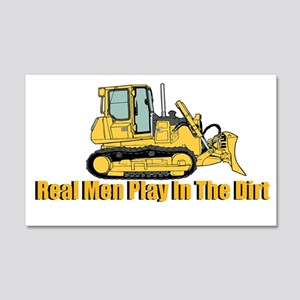 Real Men Play In The Dirt Wall Decal