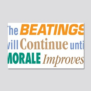 Beatings Will Continue - 20x12 Wall Decal