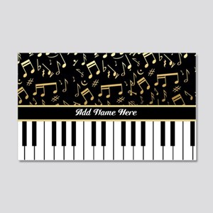 Personalized Piano musical notes designer 20x12 Wa