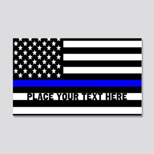 Thin Blue Line Flag 20x12 Wall Decal