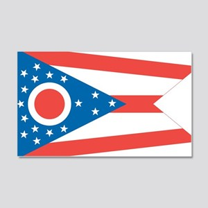 Ohio State Flag 20x12 Wall Decal