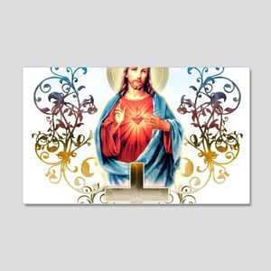 Sacred Heart of Jesus 20x12 Wall Decal
