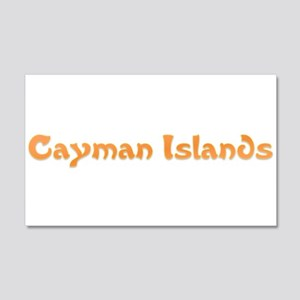 Cayman Islands 20x12 Wall Decal