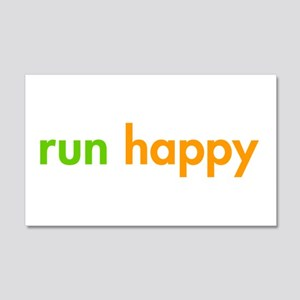 run-happy-fut-green-orange Wall Decal