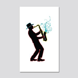 Saxophone Player 20x12 Wall Decal