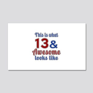 13 Awesome Birthday Designs 20x12 Wall Decal