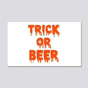 Trick or beer 20x12 Wall Decal