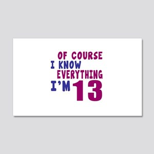 I Know Everythig I Am 13 20x12 Wall Decal