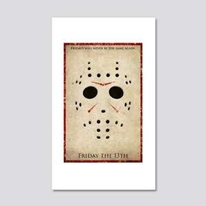Friday the 13th Minimalist Poster Design 20x12 Wal