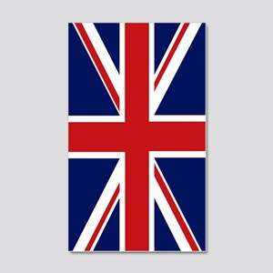 Union Jack 20x12 Wall Decal