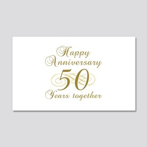 50th Anniversary (Gold Script) 20x12 Wall Decal