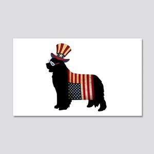4th of July Newfie Wall Decal