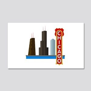 Chicago Illinois Skyline 20x12 Wall Decal