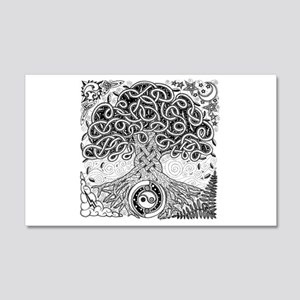 Celtic Tree of Life Ink 22x14 Wall Peel