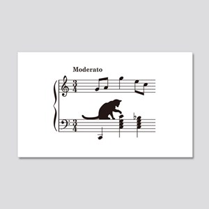 Cat Toying with Note v.2 20x12 Wall Decal