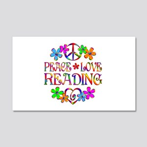 Peace Love Reading 20x12 Wall Decal