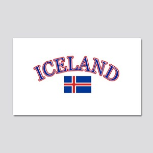 Iceland Soccer Designs 20x12 Wall Decal
