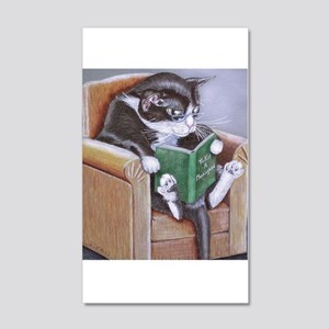 Reading Cat 20x12 Wall Decal