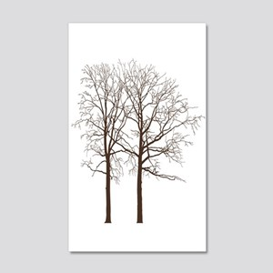 Brown Trees Wall Decal