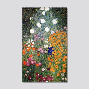Gustav Klimt Flower Garden 20x12 Wall Decal