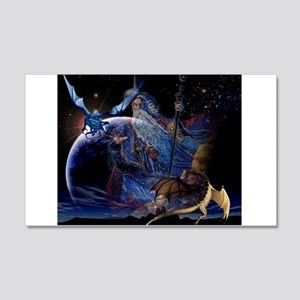 Wizzard & Dragon 20x12 Wall Decal
