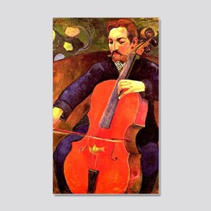 Gauguin: The Cellist, Paul Cezann 20x12 Wall Decal