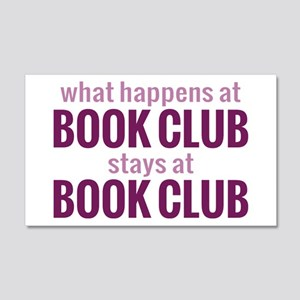 What Happens at Book Club 22x14 Wall Peel