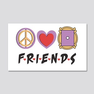 Peace Love Friends Wall Decal