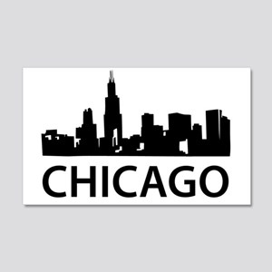 chicago1 20x12 Wall Decal