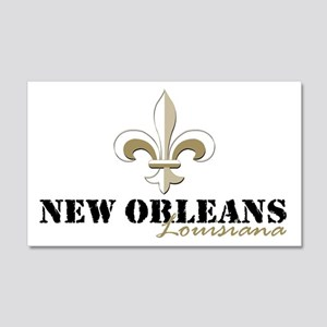 New Orleans Louisiana gold 20x12 Wall Decal
