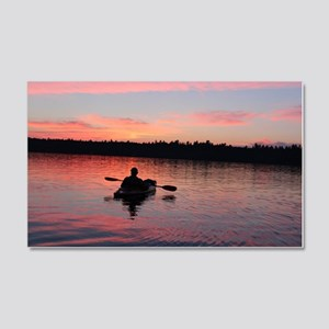 Kayaking at Sunset 20x12 Wall Decal