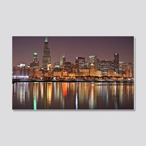 Chicago Reflected 20x12 Wall Decal