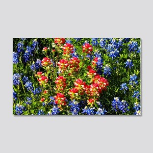 Texas bluebonnets 20x12 Wall Decal
